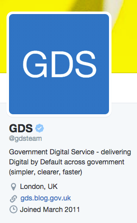 Image of the GDS Twitter information