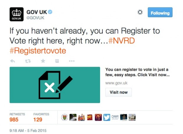 Register to Vote Twitter