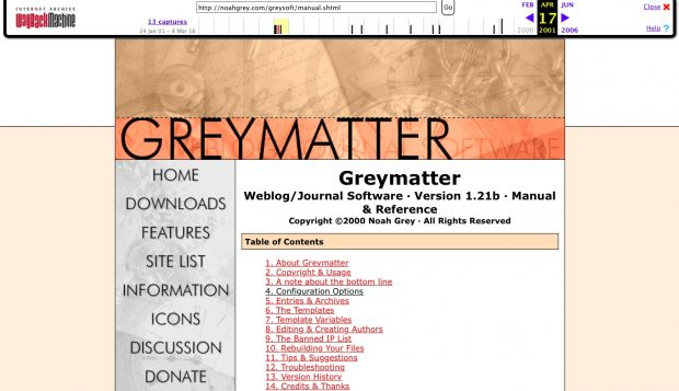 Greymatter webpage